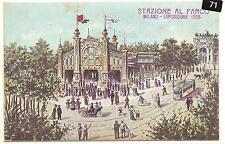 Italy Milano Exposizione  Post Card  Railroad Station  1906
