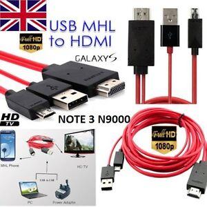 1080p Mhl Micro Usb A Hdmi Hdtv Cavo Adattatore Per