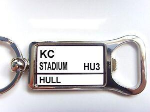 Hull Stadium Badge Panneau De Signalisation Cadeau De Porte-clé Ouvre Bouteille ModéLisation Durable