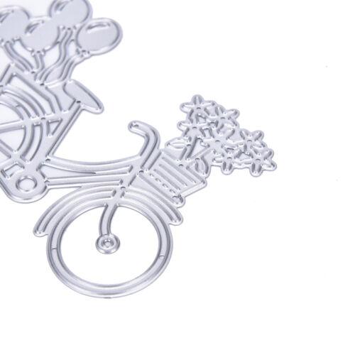 Bicycle Metal Cutting Dies Stencil Scrapbooking Paper Cards Albums Photo UK ^YJ