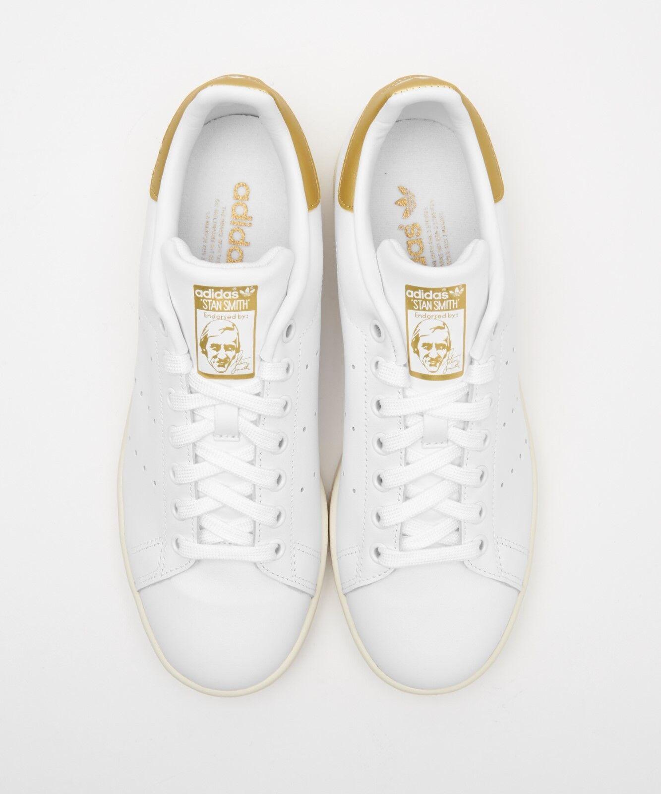 Adidas stansmith Zapatos blancoo Dorado AQ0439 EE. UU. para hombre