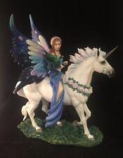 REALM OF ENCHANTMENT Anne Stokes  MAGIC Unicorn RESIN Fairy FANTASY Dragon