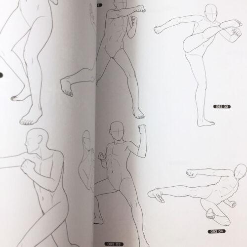 /'NEW/' How To Draw Manga Anime Boys Pose Book 500 w//CD-ROMJAPAN Art