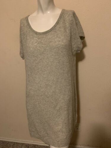 M.O.L. Knits Womens Gray Lofty Cashmere Sweater Dr