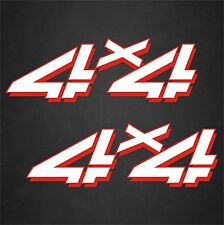 """2 - 5""""x15"""" 4x4 Truck Replacement Quality Vinyl Decals Graphics White Red"""