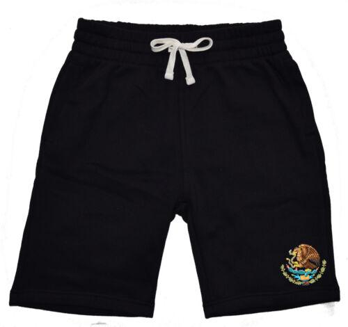 New Men/'s Mexico Seal Fleece shorts sweatpants Jogger Mexican Pride Flag Symbol