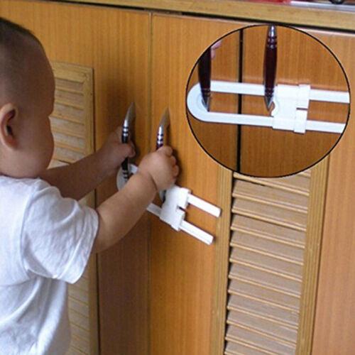 Baby Safety Lock U Shape Security For Cabinet Children Cupboard Door Drawer