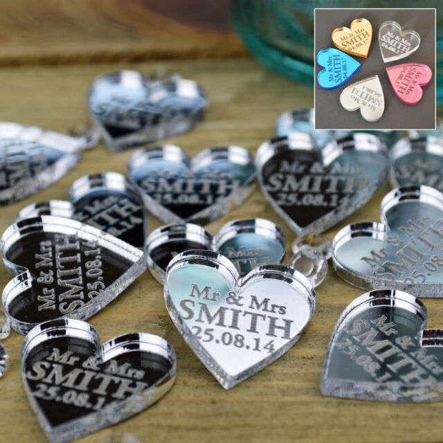 50 Personalised Wedding Favours Confetti Table Centrepieces Decorations Gifts