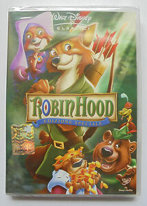 DVD-ROBIN-HOOD-WALT-I-CLASSICI-DISNEY-EDIZIONE-SPECIALE-NUOVO-SIGILLATO-cartoon