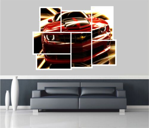 Huge Collage View Gm Chevrolet Camaro Wall Stickers Wallpaper Mural 768
