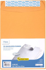 Mead Envelopes Press It Seal It 9 X 12 Self 9 X 12 25 Count Kraft
