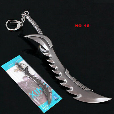 Large Size 6 Inch League of Legends LOL Metal Pendant Keychain In Retail Box