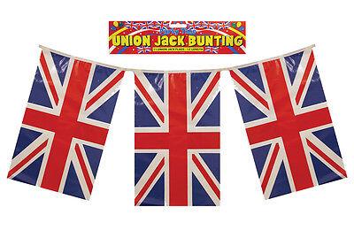 Union Jack PVC Rectangular Bunting 11 Pennants 4m