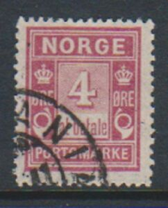 Norway-1904-4-ore-Claret-Postage-Due-stamp-G-U-SG-D96