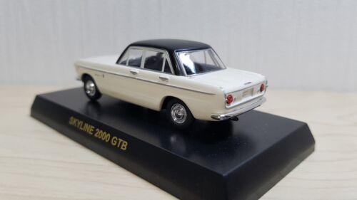 1//64 Kyosho NISSAN PRINCE SKYLINE GTB WHITE//BLACK diecast car model