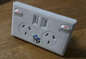 2-x-Australian-dual-USB-PowerPoint-SAA-approval-White