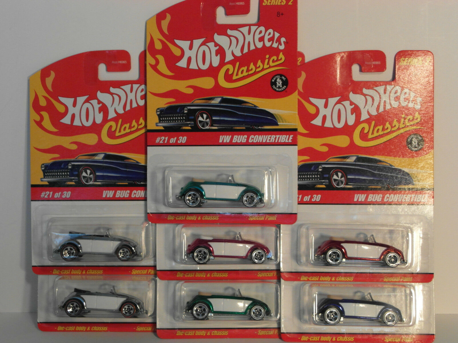 2006 HW Hotwheels CLASSICS Series 2 VW BUG CONgreenIBLE  7 Variation VHTF