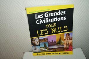LIVRE-LES-GRANDE-CIVILISATIONS-POUR-LES-NUL-HISTORE-TBE