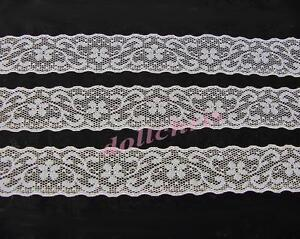 Lace-Trim-White-1-1-4-inch-Wide-Galoon-8-Yards-Sewing-Crafts-Lot-10