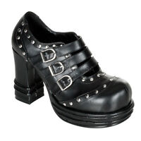 Demonia Vampire 08 Goth Punk Lolita Mary Jane Black Shoes Buckle Strap Studded