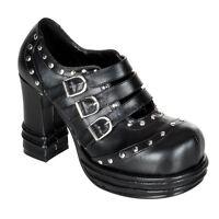 Demonia Vampire 08 Goth Punk Lolita Mary Jane Black Shoes Buckle Strap Studded
