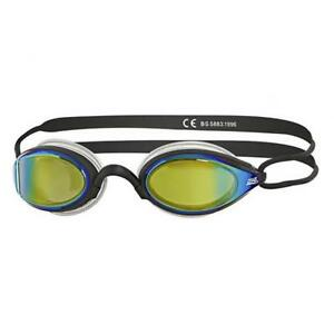 Zoggs-Adult-Podium-Mirror-Goggles-in-Black-Clear-with-Mirror-Tinted-Lenses