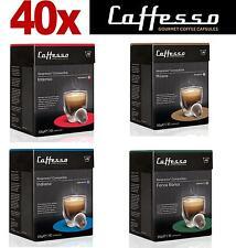 40 X caffesso Nespresso Compatible Cápsulas de café mejorado 4 Mezcla Variedad Pack