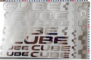 Cube Sticker Bicycle Bike Sticker MTB BMX Decal XL Set 22 stűck Chrome