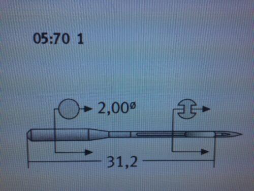 DOX5 SCHMETZ INDUSTRIAL SEWING MACHINE NEEDLES CANU:05:70 1 NM:130 SIZE:21 142X5