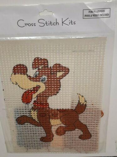 Cross stitch Kits Pour Enfants /& débutants Motif Imprimé sur Binka