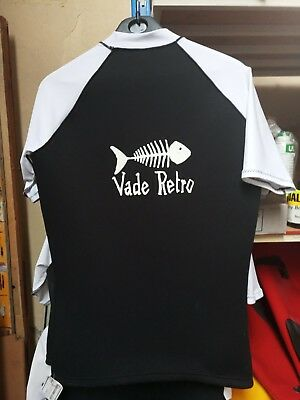 Modest T-shirt Top Vade Retro Lycra/neoprene Taille 0 Outdoor Sports Sporting Goods