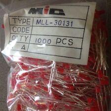LOT DE 1000PCS LED ROUGE 3MM MLL-30131 MIC