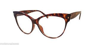 60/'s Retro Vintage Style Cat Women Rx Rectangle Frame Clear Lens Eye Glasses NEW