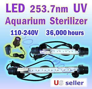 LED 253.7 nm UV Fish Tank Aquarium Sterilizer 110 V~240 V ...