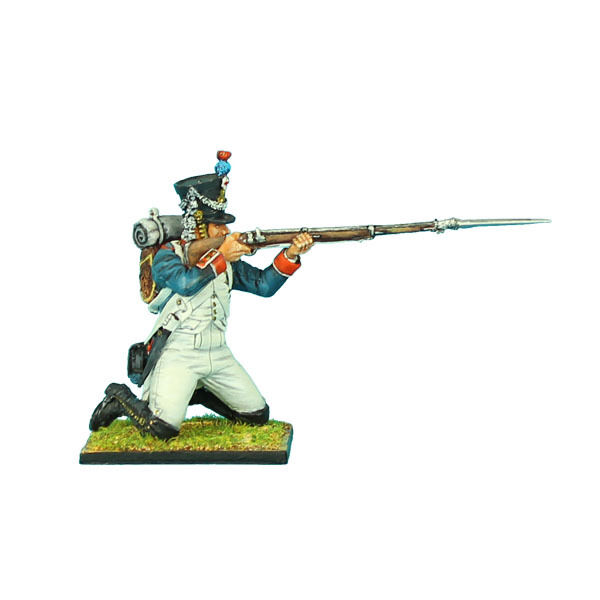 NAP0328 French 18th Line Infantry Fusilier Kneeling Firing Firing Firing by First Legion a6c0c5