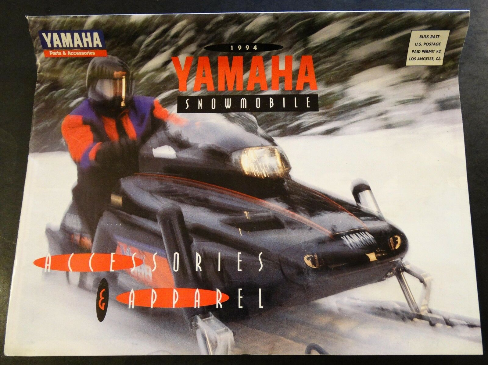 1994 YAMAHA SNOWMOBILE SALES BROCHURE LARGE 12 PAGES 11' x 17  (247)