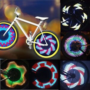Led Fahrrad Speichen Licht 32leds 32 Effekte Felgen Reifen Show