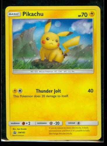 MINT Sun /& Moon RARE HOLO PROMO Pokemon PIKACHU SM183