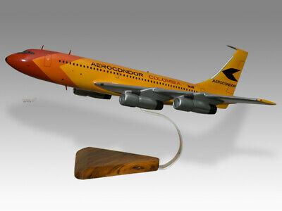 Have An Inquiring Mind Boeing 720 Aerocondor Colombia Solid Dried Mahogany Wood Handmade Desktop Model Beautiful And Charming Collectables Models