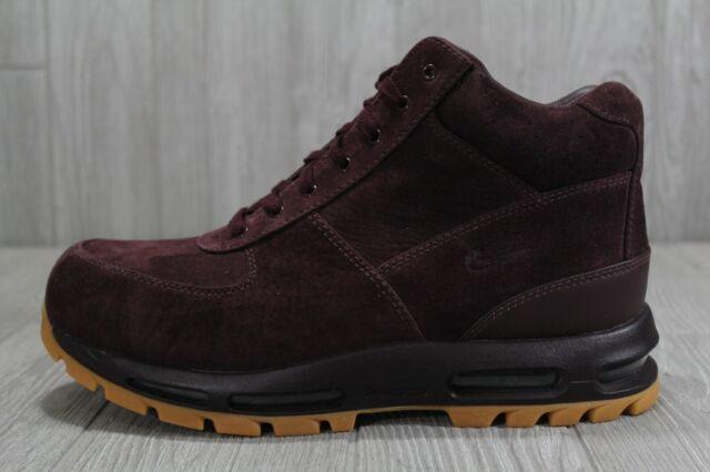 38 Nike Air Max ACG Goadome 2013 Suede Shoes Burgundy Boots Sz 10 11 599474 600