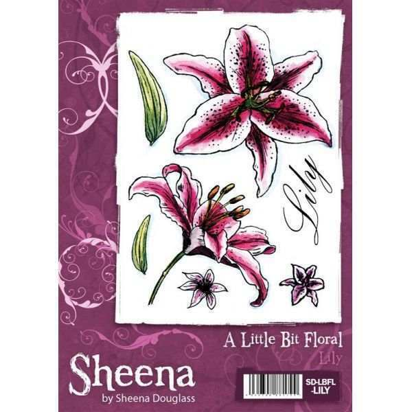 A Little Bit Floral LILY A6 Rubber Stamp by Sheena Douglass