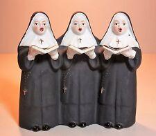 Three SINGING NUNS - Vintage Ceramic MUSIC BOX - plays Dominique
