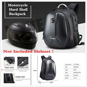 Motorcycle-Hard-Shell-Backpack-Casual-Helmet-Luggage-Bag-USB-Charging-Plug-Port