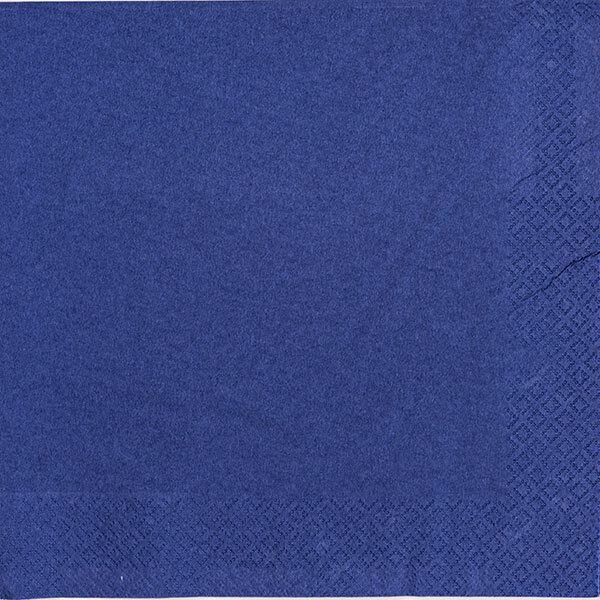 2000 x Navy Blau Paper Napkins 2 Ply 33cm 4 Fold Tissue Serviettes