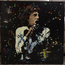 KAT SIGNED MICK JAGGER ORIGINAL ROLLING STONES PAINTING ON CANVAS COA