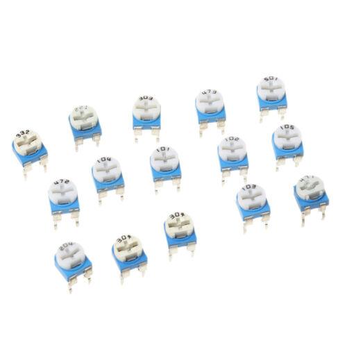 15 Value One Set 150pcs Trimpot Variable Resistor 6mm Assortment Box Kit