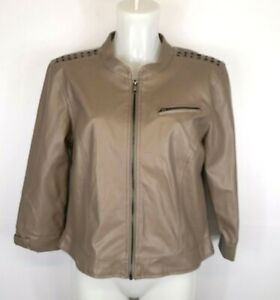 H42) FRANSA Damen Jacke Lederjacke Kurz Jacket mit Nieten Gr. 40 Neu 69,95€