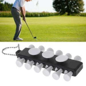 Golf-Tee-Holder-Carrier-12-Plastic-Tees-With-3-Ball-Markers-Keychain-Keyring-Set