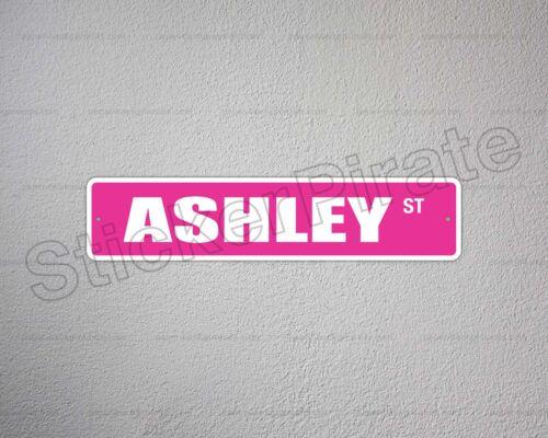 "*Aluminum* Ashley 4/"" x 18/"" Metal Novelty Street Sign  SS 398"