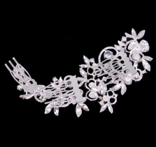 Demoiselle d/'honneur nuptiale mariage cristal Autrichien Argent Diamant Suisse coupe cheveux peigne